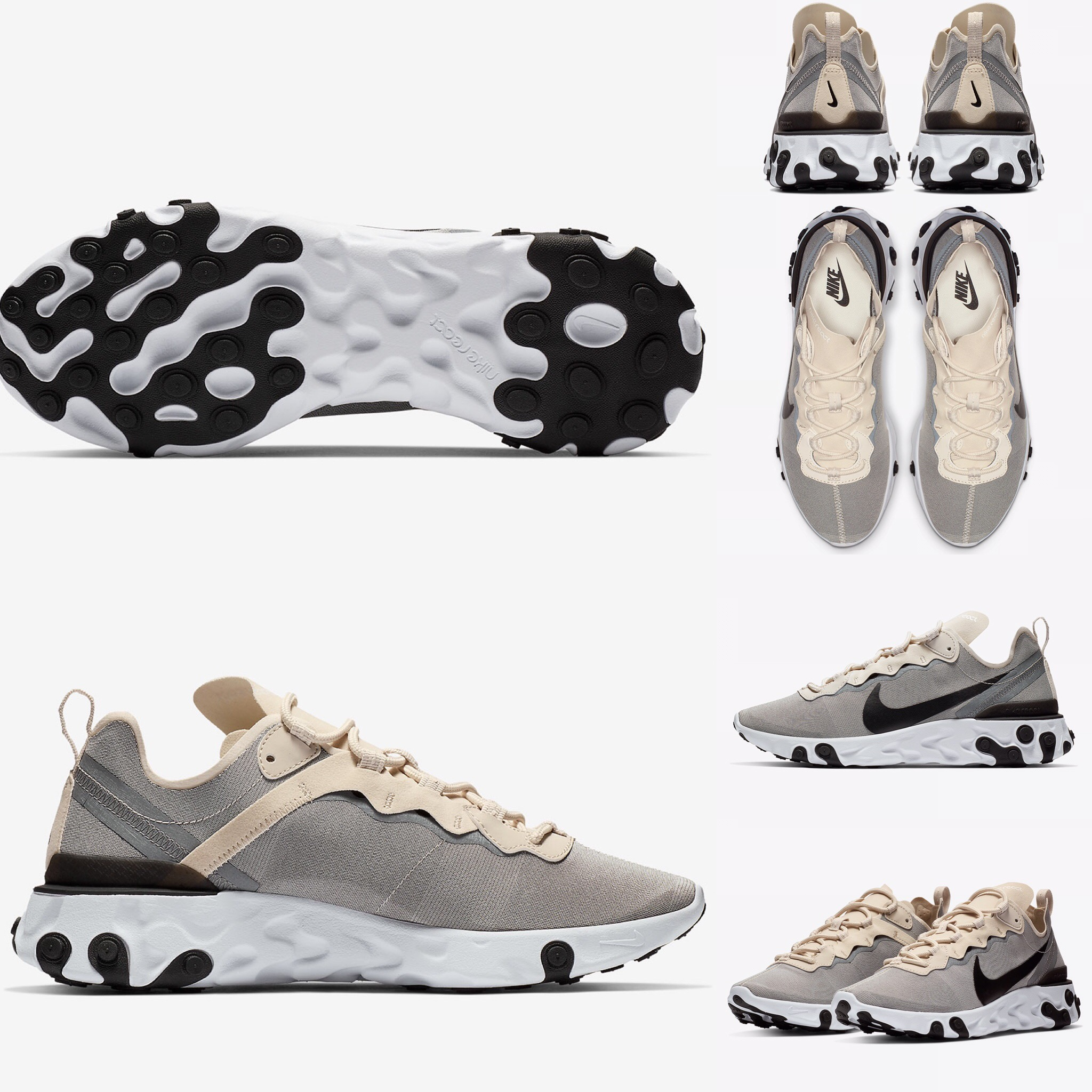 92d995b993c8 The Nike React Element 55 Comes Dressed In Pure Tonal Refinement ...
