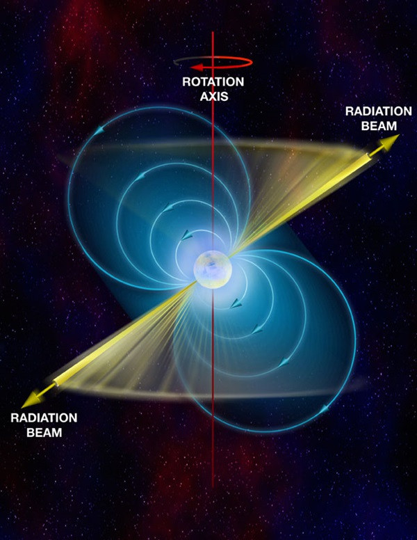 Pulsar and its axial components