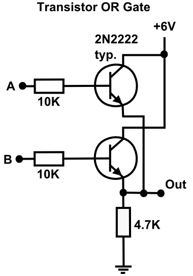OR Gate using Transistors