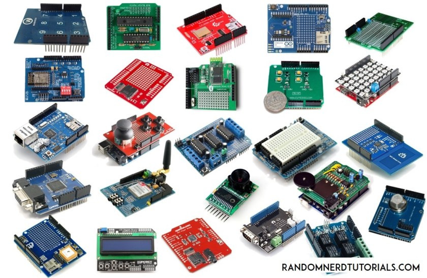 Sheilds compatible with Arduino