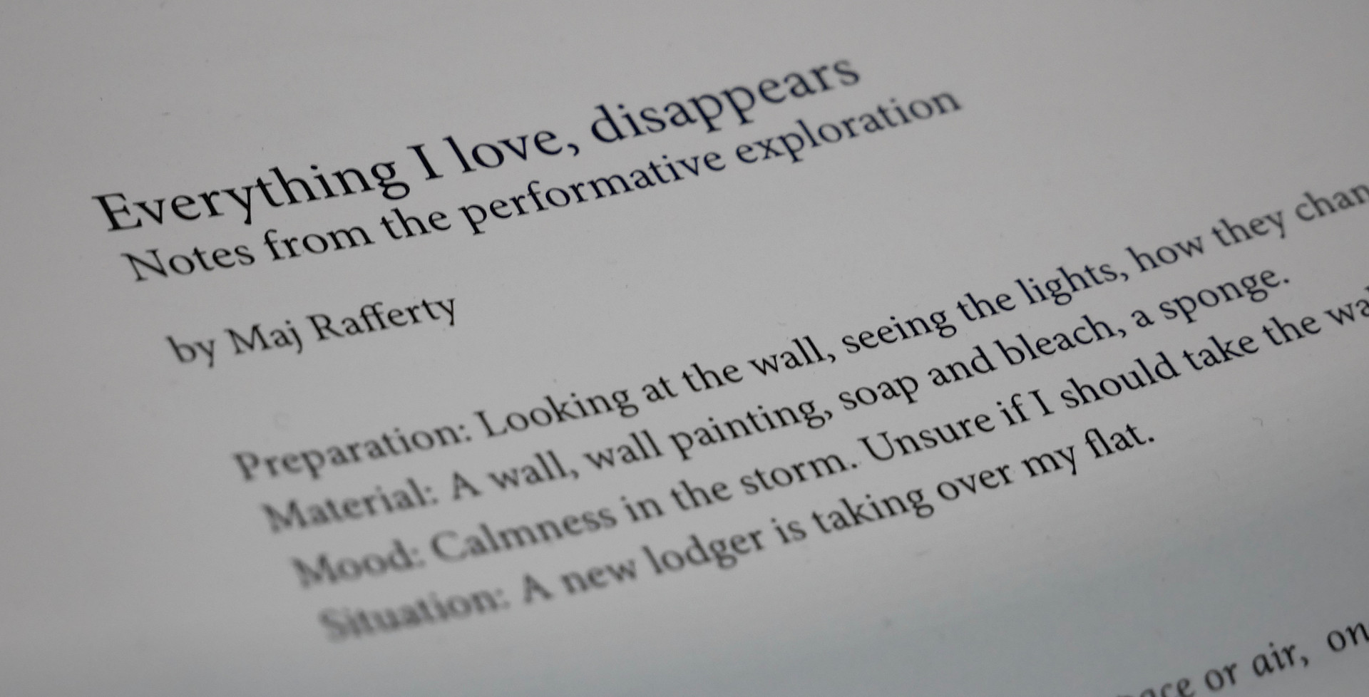 Everything I love, disappears
