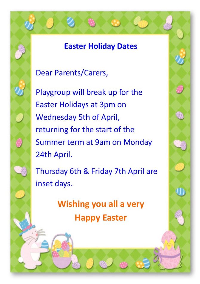 Easter Holiday Dates 2017