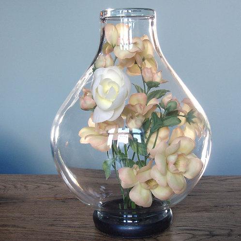 Bouquet de fleur vintage sous verre
