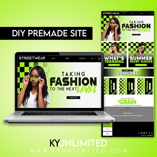 Wix Streetwear Premade Website Design