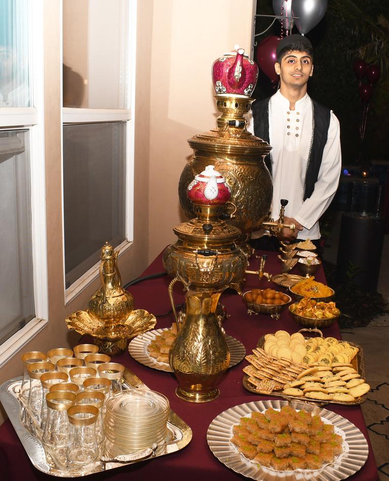 Treditinal Tea table