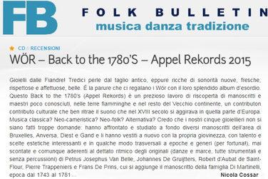 Recensioni Folk Bulletin (IT) by Nicola Cossar