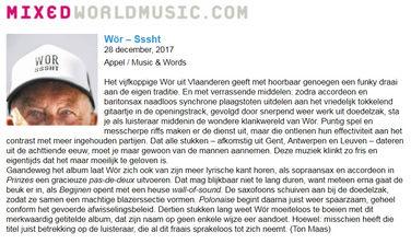 MixedWorldMusic (NL) - Sssht