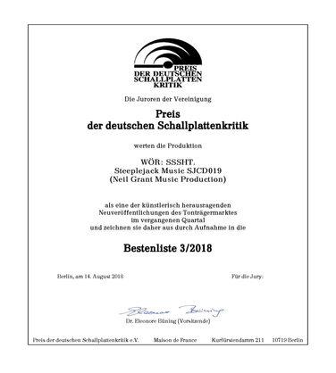 """Preis der deutschen Schallplattenkritik"" (German Record Critics' Award)"