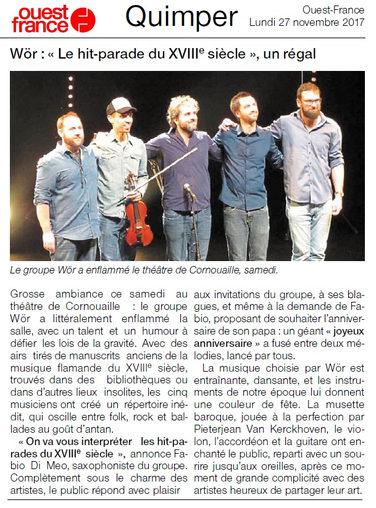 Live review - WÖR Theatre de Cornouailles - Quimper - FR - 25.11.2017