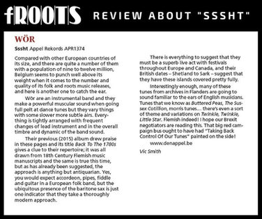 fRoots Magazine about 'Sssht'