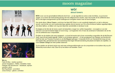 Moors Magazine - recensie 'About Towers'