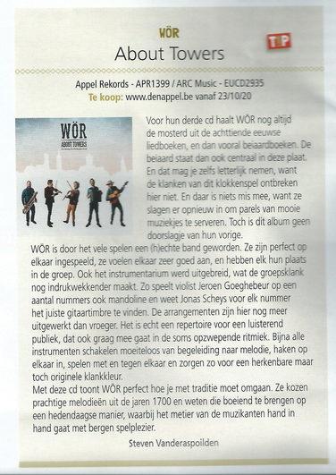 recensie About Towers Folk Magazine