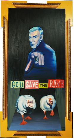 God save the rave 2020,canvas,oil,160х9