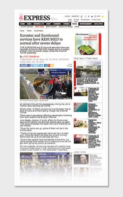 NEWS: Eurostar delays