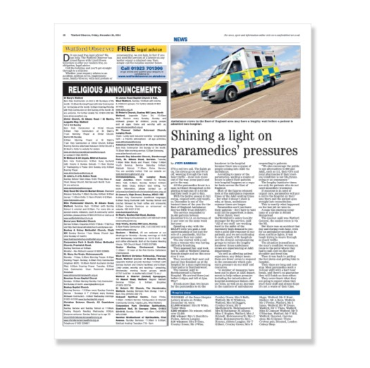 FEATURE: Day with paramedics