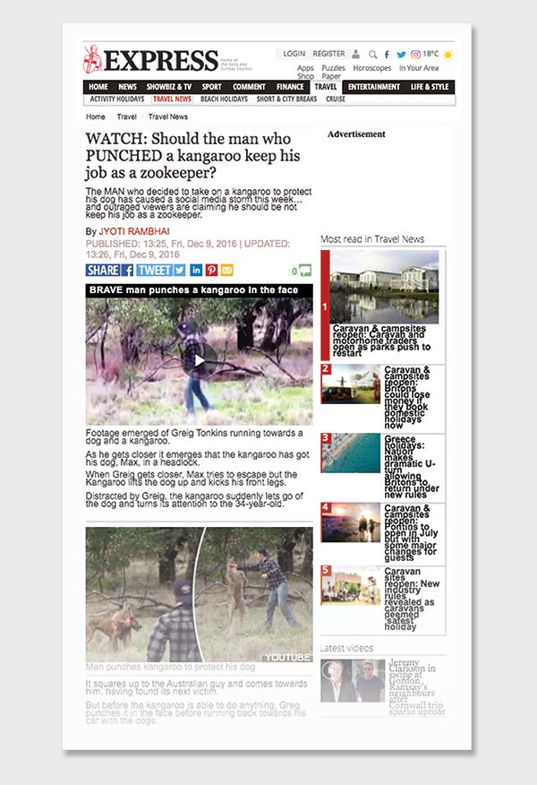 VIRAL: Man punches kangaroo