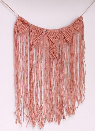 Guirlande de fanions rose blush