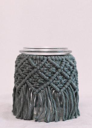 Moyen vase bleu-gris