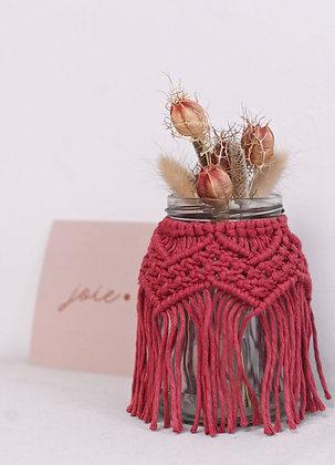 Petit vase rose sauvage
