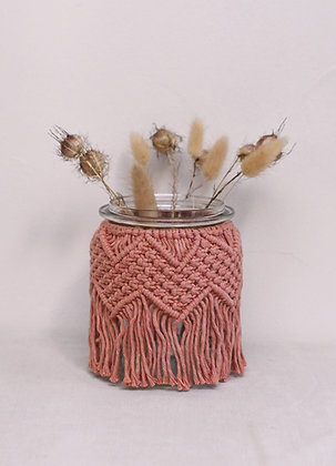 Moyen vase rose blush