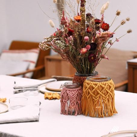Inspiration : une table de noël aux couleurs chaudes