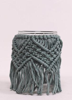 Grand vase gris-bleu