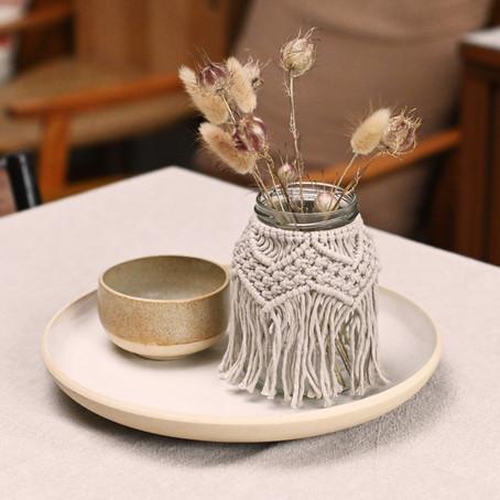 Vase, photophore & pot en macramé : 3 utilisations