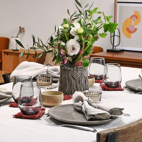 Au printemps, le macramé s'invite à table