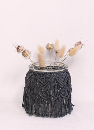 Moyen vase noir
