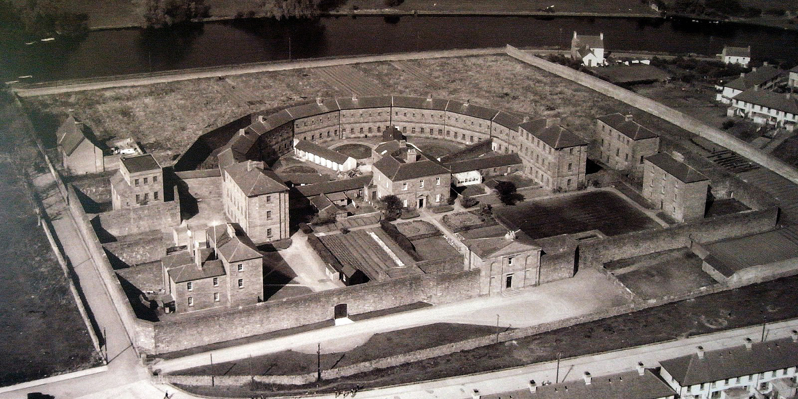 Sligo Gaol aerial view in 1950s