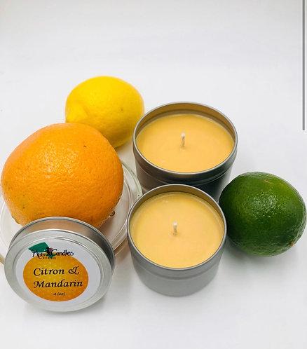 Citron and Mandarin 4oz Candle