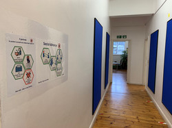 1st floor corridor Covid Protocol Settin