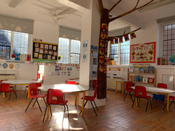 Reception  Classroom Covid Protocol Setting