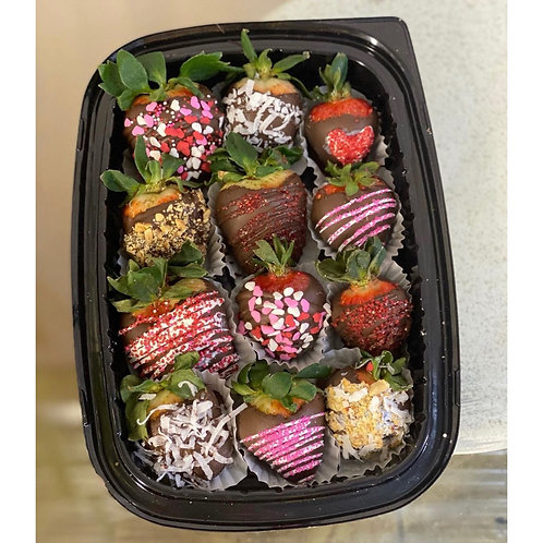 CHOCOLATE COVERED STRAWBERRIES (ASSORTED-12)