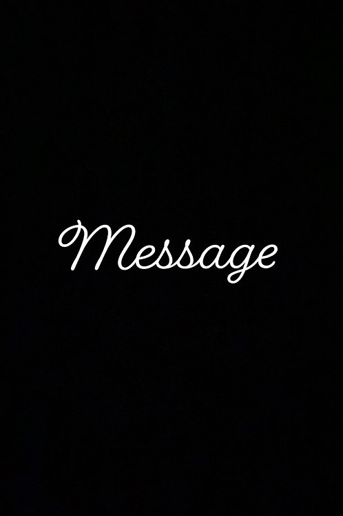 PERSONALIZED MESSAGE
