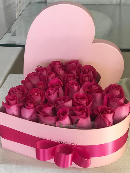 BOXED ROSES-PINK