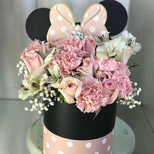 MINNIE FLOWER BOX-PINK