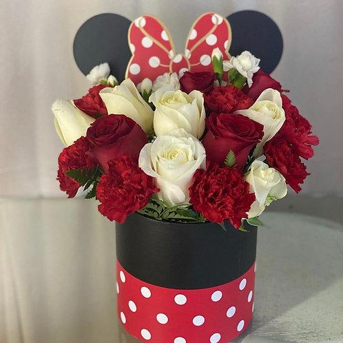 MINNIE FLOWER BOX-RED