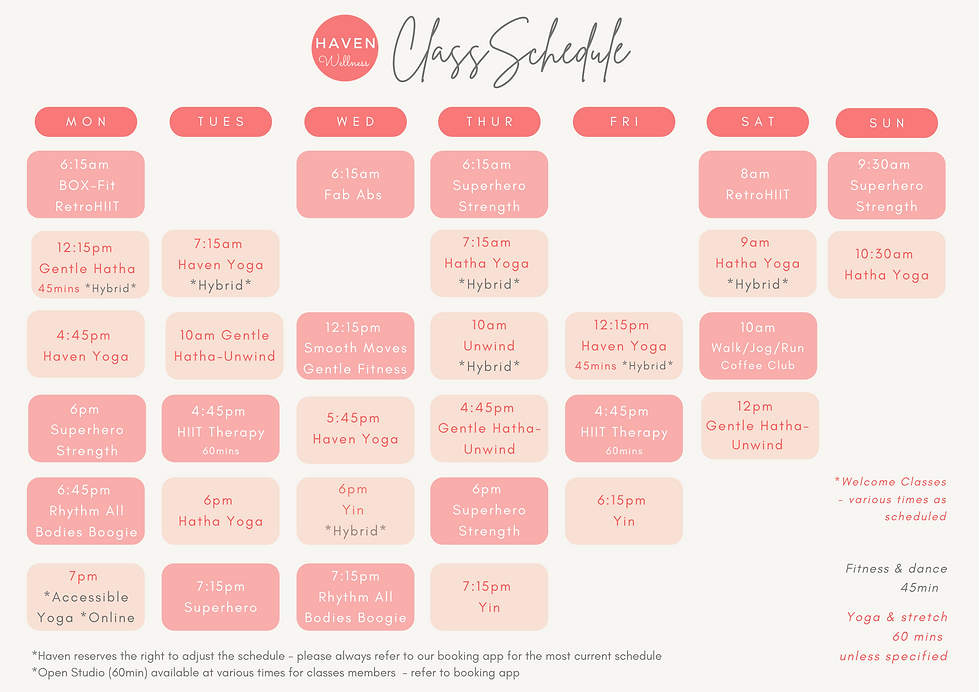 Class Schedule April 2021 NEW - updated