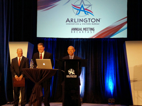 Congratulations to Gerald B. Alley as the new Chairman of the Arlington Convention & Visitors Bureau