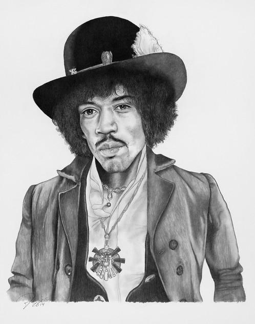 Original Jimi Hendrix Portrait By Frizzell