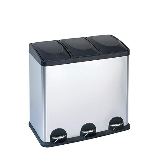 3 COMPARTMENT RECYCLING/TRASH BIN