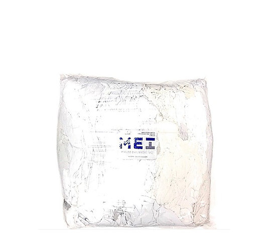 GANZIE WHITE T-SHIRT RAGS 25 LB BAG