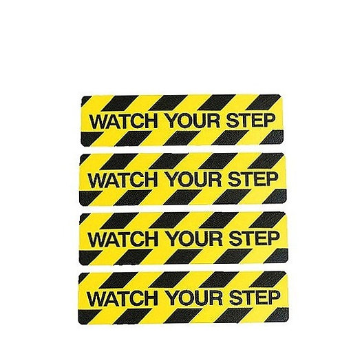 """WATCH YOUR STEP"" GRIP STEP TAPE"
