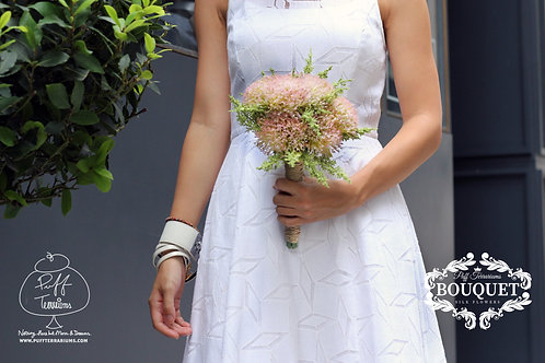 Pink Pom Bridesmaid Mini Bouquet