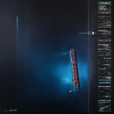 LIGNES PARALLELES 80x80cm