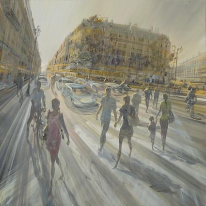 Avenue Saint-Honoré 70x70cm