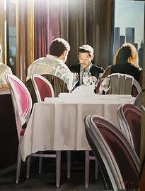 Nicolas Odinet-Sunny lunch 100x100cm007.
