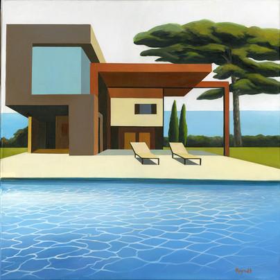 Villa Paradise 80x80cm