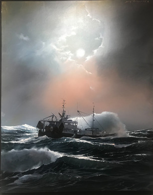 Against the storm 92x73cm